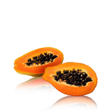 Papaya smoothie bevroren fruit pulp puree Juice Pads afbeelding