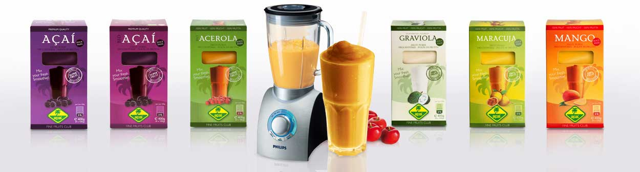 Bevroren acai puree en smoothie packs producten