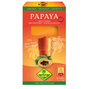 Papaya bevroren juice pads smoothies