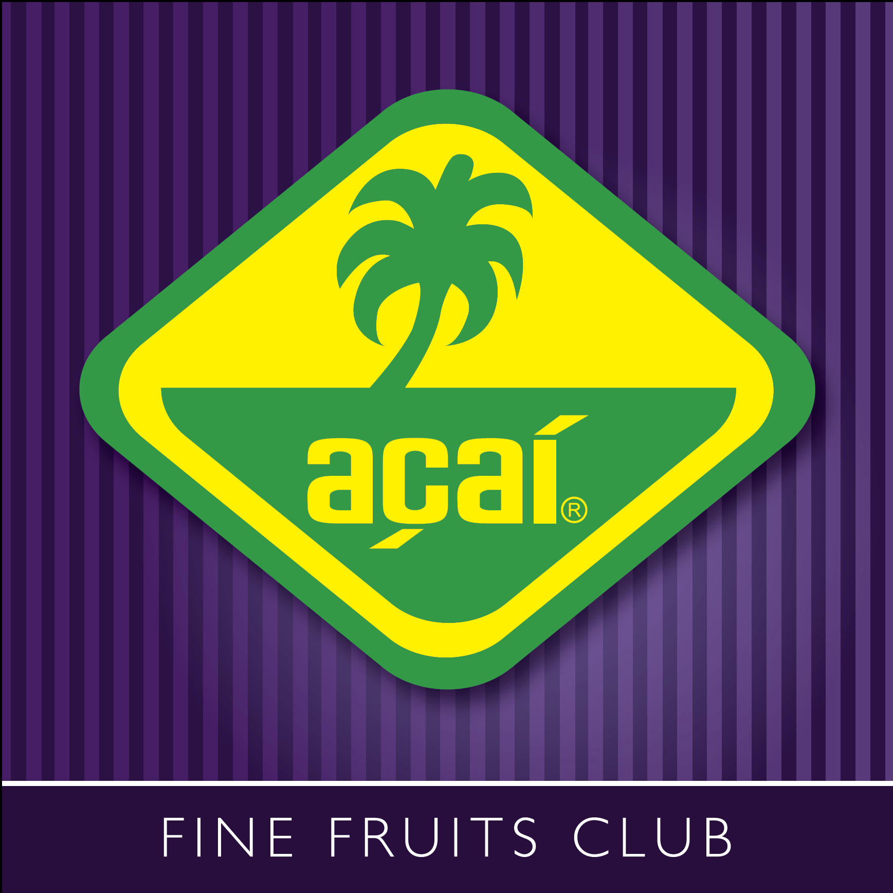 Acai fine fruits club logo