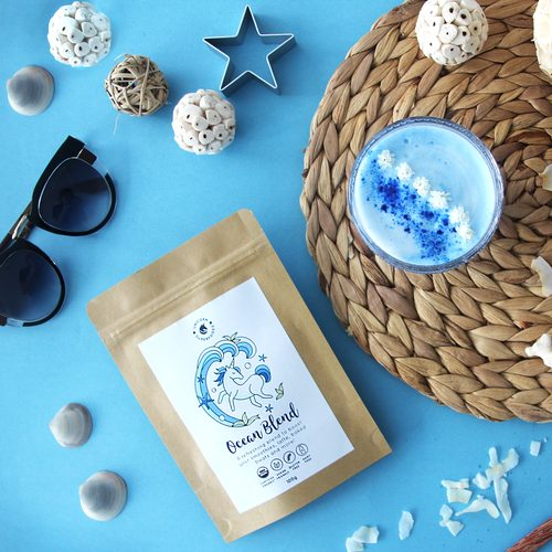 Unicorn Superfoods Ocean Blend blauwe latte