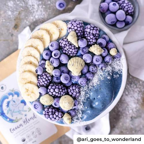 Unicorn Superfoods Ocean Blend blauwe mermaid bowl